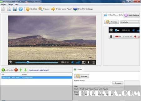 Magic Hills Flash HTML5 Web Video Player v1.4