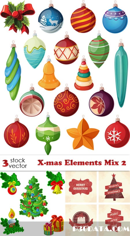 Vectors - X-mas Elements Mix