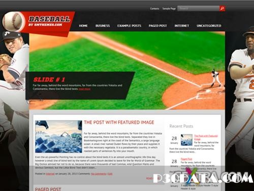 Baseball - Theme For WordPress