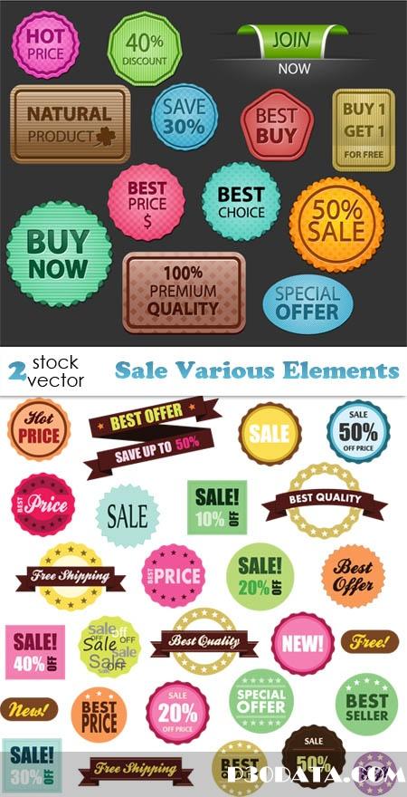 Vectors - Sale Various Elements