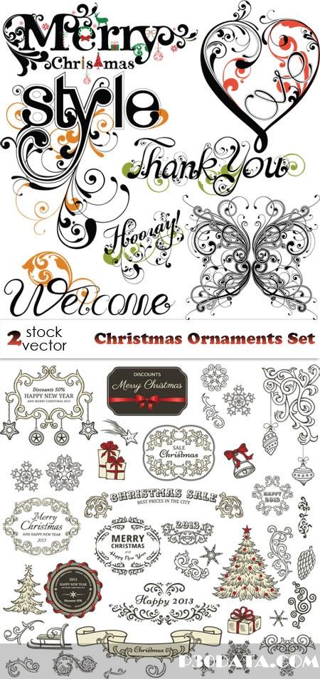 Vectors - Christmas Ornaments Set
