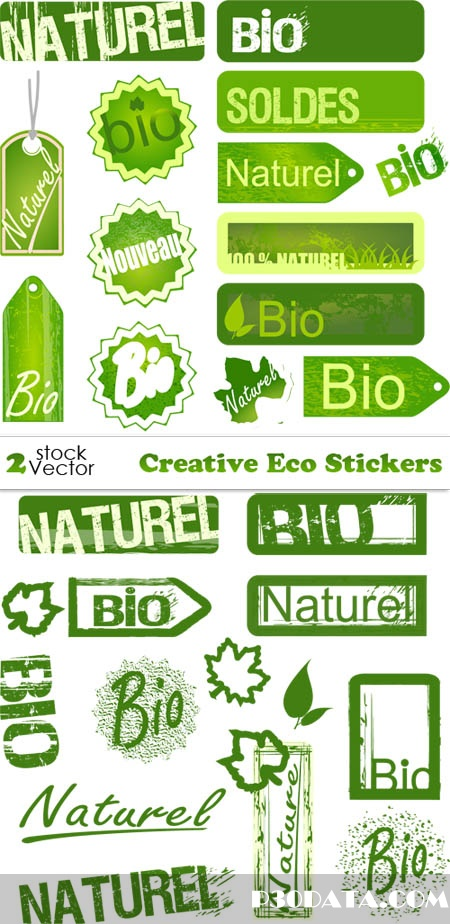 Vectors - Creative Eco Stickers