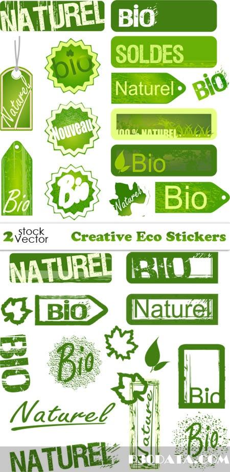 Vectors - Creative Eco Stickers