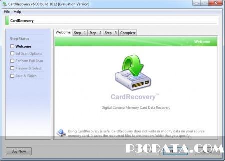 بازیابی اطلاعات از مموری ها به وسیله CardRecovery v6.10 Build 1210