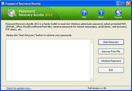 کشف و بازیابی رمزهای عبور با Password Recovery Bundle 2012 2.5 Enterprise Edition