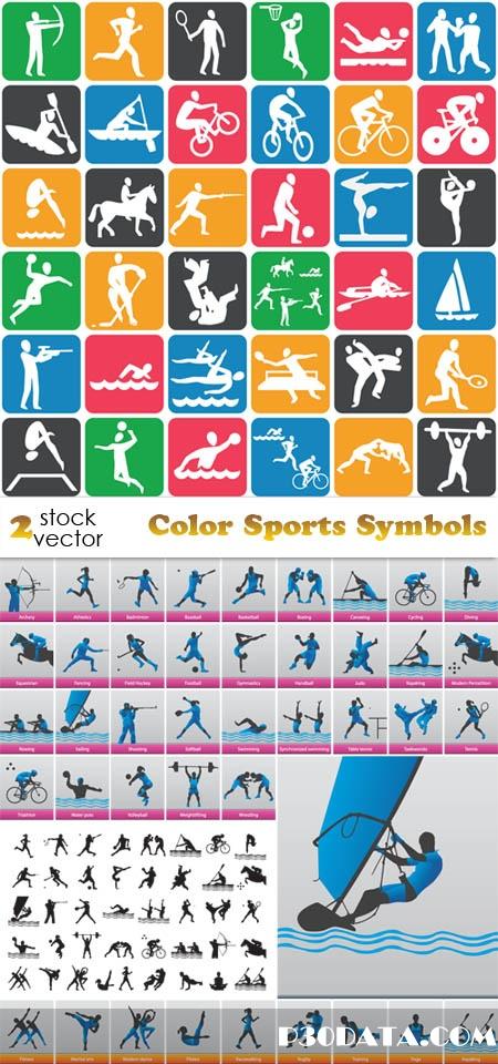 Vectors - Color Sports Symbols