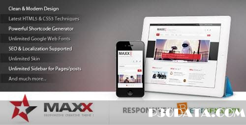 ThemeForest Maxx – Responsive Creative WordPress Theme