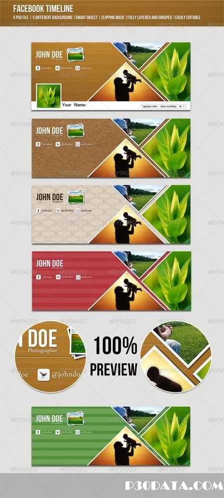 Graphicriver - Creative Facebook Timeline Photoshop Template