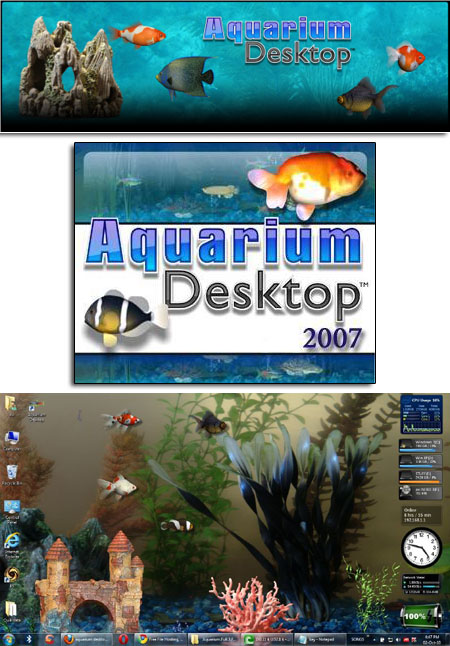 Aquarium Desktop 2007 Full + 3 Fish Packs
