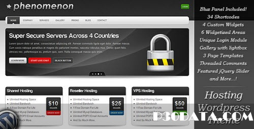 ThemeForest - Phenomenon - Premium Hosting Wordpress Theme