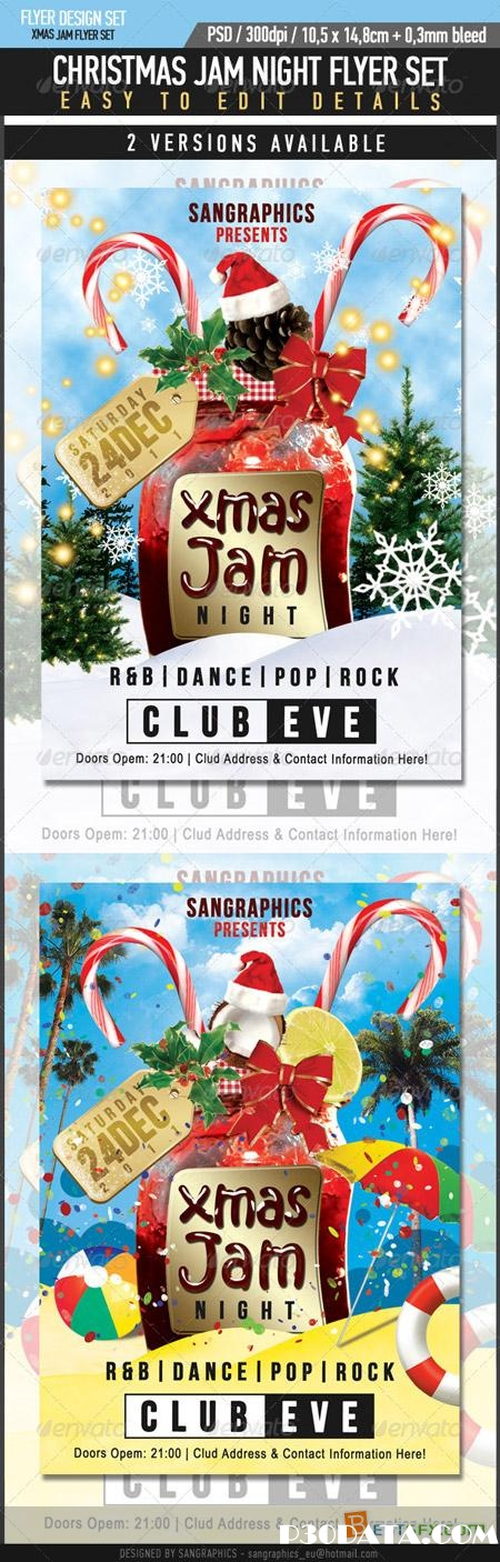 Graphicriver Christmas Jam Flyer Set