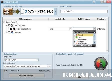 تبدیل فایل های تصویری به DVD با VSO DVD to DVD 1.4.0.8 Portable
