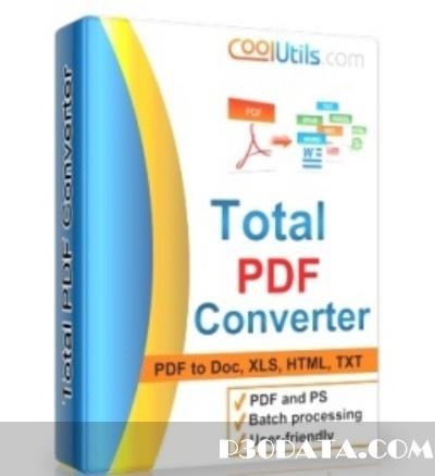 نرم افزار تبدیل کننده فرمت پی دی اف Coolutils Total PDF Converter 2.1.193