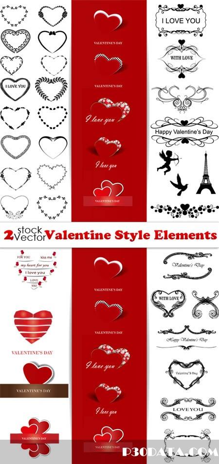 Vectors - Valentine Style Elements
