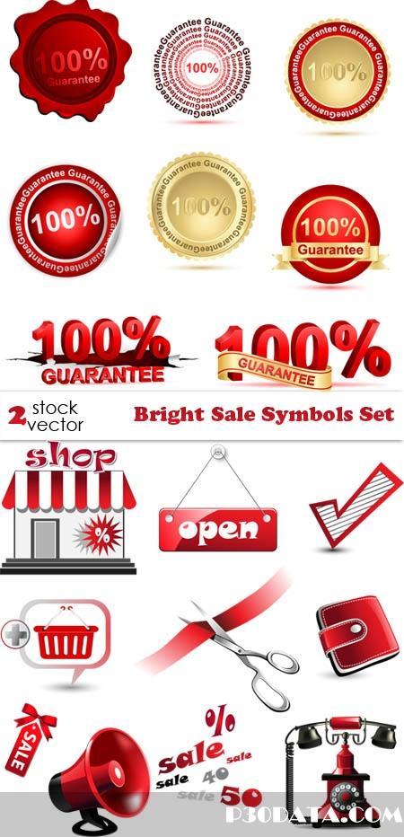 Vectors - Bright Sale Symbols Set