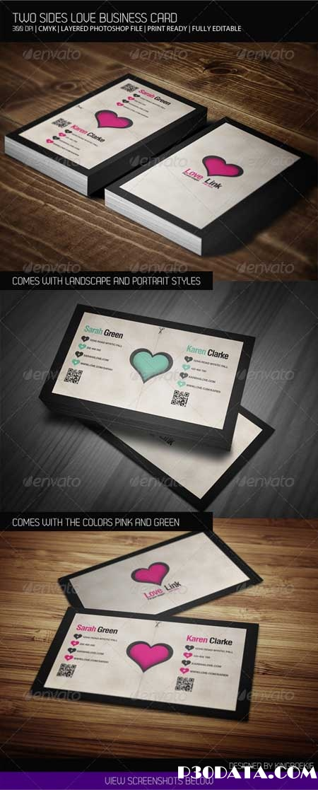 Graphicriver - Two Sides Business Love Card
