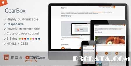 ThemeForest - GearBox - Modern, Responsive, Adaptable Framework