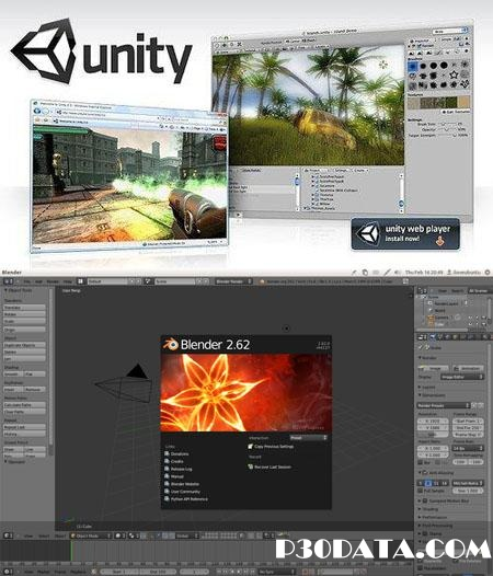 ساخت انیمیشن های سه بعدی با Blender 2.62 + Unity3D Pro 3.5