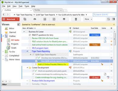 مدیریت و برنامه ریزی بر کار های خود با MyLifeOrganized Professional Edition 4.1.0