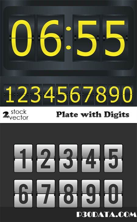 Vectors - Plate with Digits