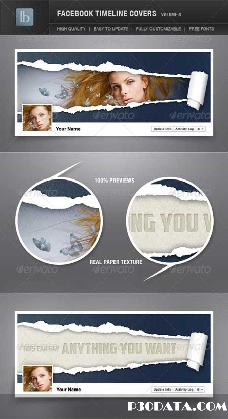 Graphicriver - Facebook Timeline Cover Photoshop Template