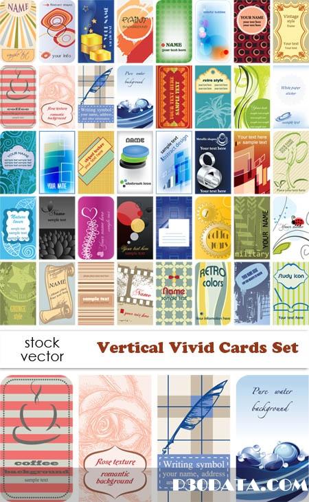Vectors - Vertical Vivid Cards Set