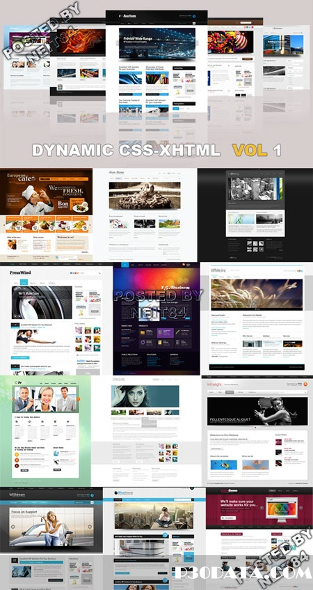 20 Dynamic CSS XHTML Templates Website