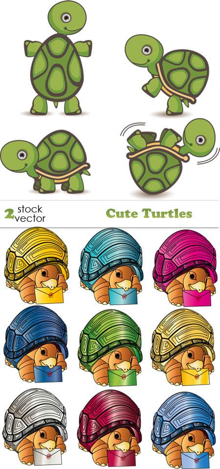 Vectors - Cute Turtles