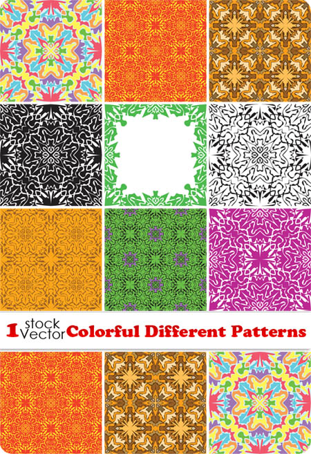 Colorful Different Patterns Vector