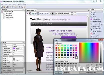 طراحی سریع و ساده وب سایت با نرم افزار Ambiera WebsitePainter 2.1.0