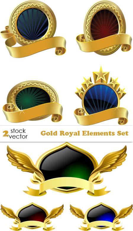 Vectors - Gold Royal Elements Set