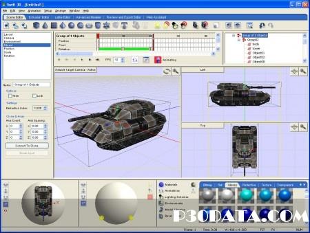خلق تصاویر فلش با Electric Rain Swift 3D 6.0.933