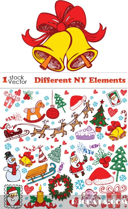 Different NY Elements Vector