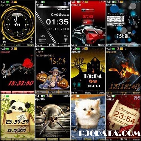 Wonderful Themes for Nokia S40